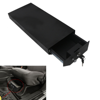 Steel Lock Box Under Driver Seat Storage Box for Jeep Wrangler JK Unlimited JKU in Textured Black #CEK093
