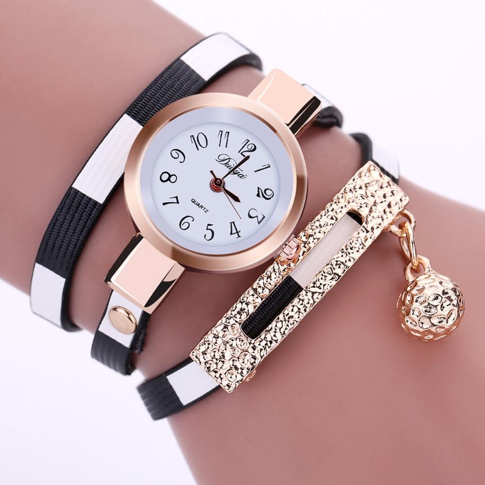 2016 New Fashion Women Watch PU Leather Bracelet Watch ...