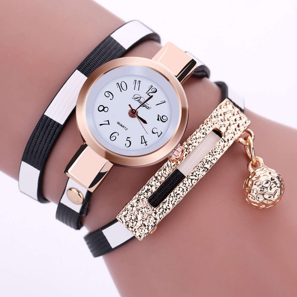 2017 New Fashion Women Watches Leather Pendant Bracelet ...