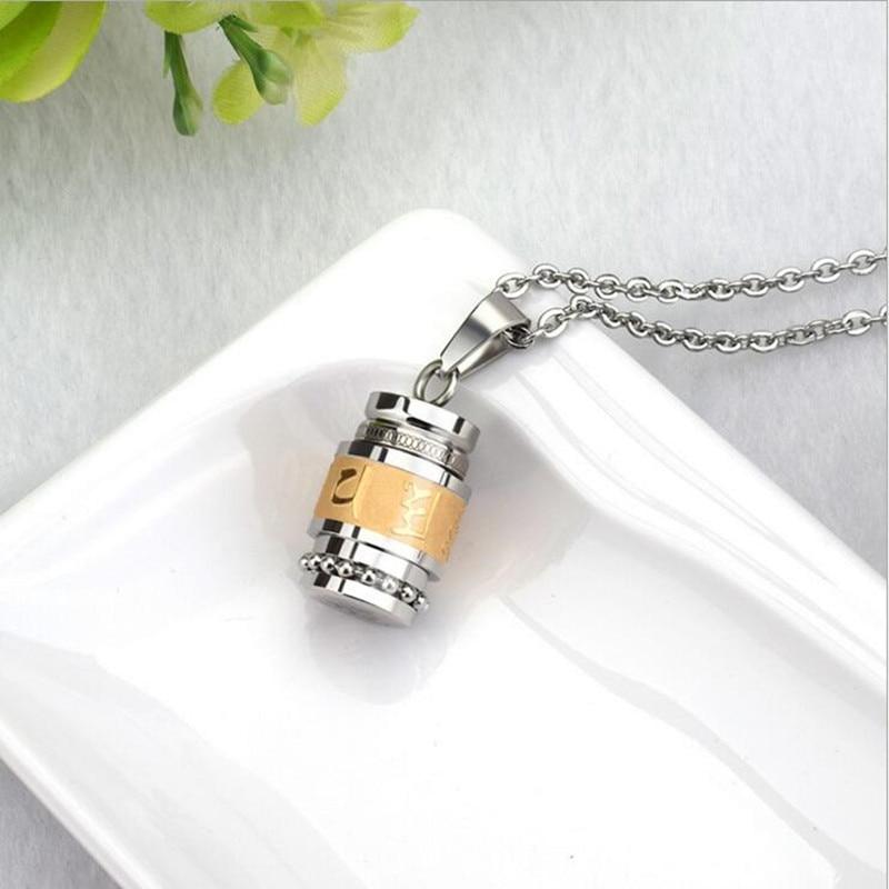 Prayer Wheel Stainless Steel Necklace 5