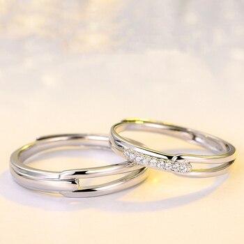 8fb9c2d045df Modyle femenino marca de cristal anillo de boda de lujo de plata 925 CZ  piedra anillo de compromiso de novia Vintage anillos de boda para las  mujeres