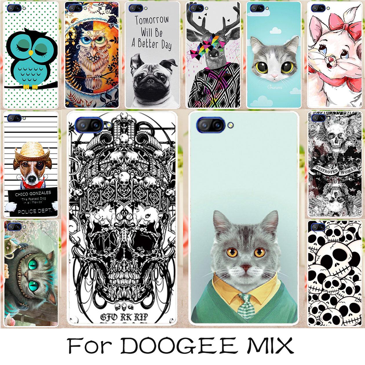 Для Doogee Mix чехол Чехлы для мангала мягкий силиконовый Корпус сумка защитный Чехол для принципиально Doogee смешивать 5.5 дюйма милые Животные сз...