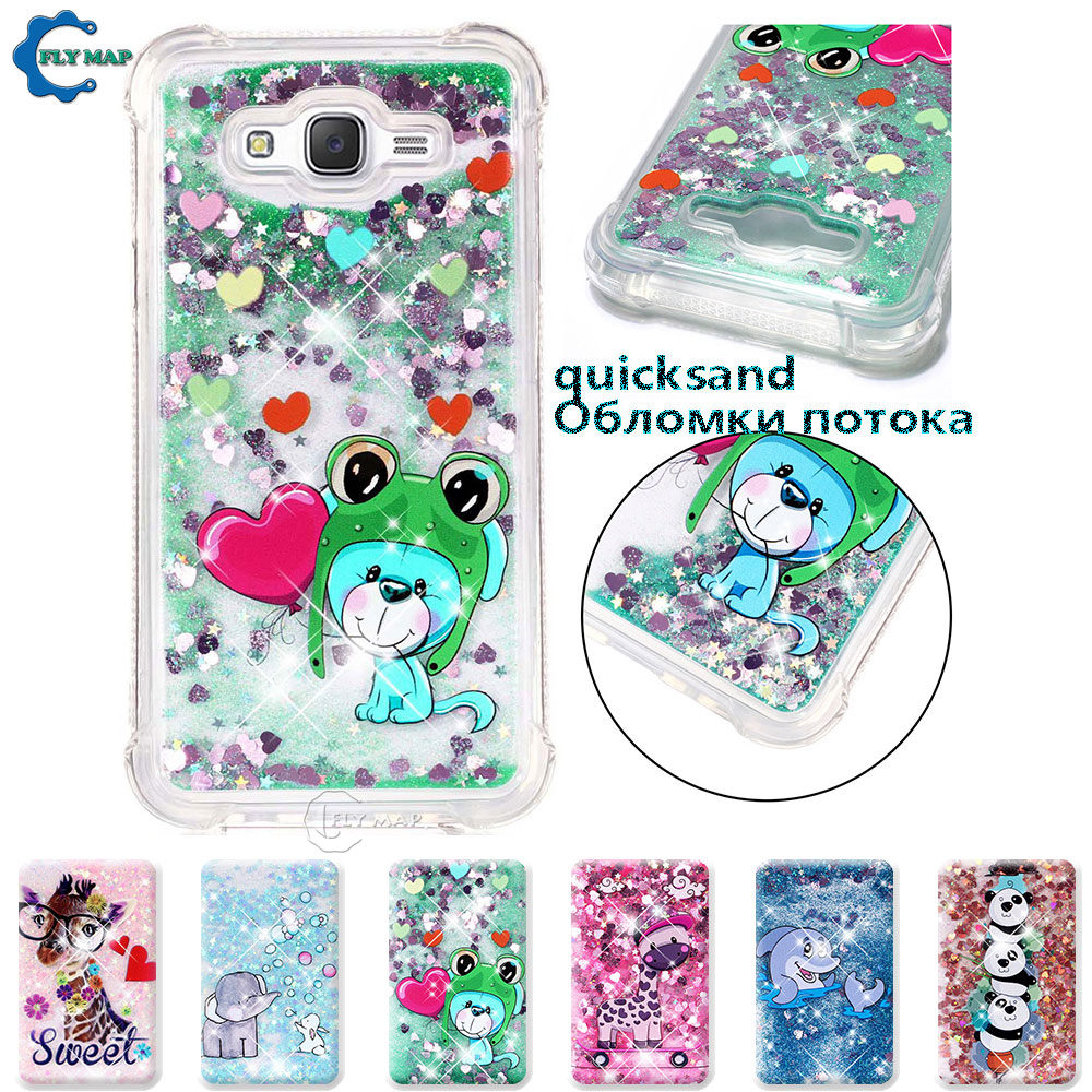 Quality In Humor Case For Samsung Galaxy J7 J 7 2015 Sm J700f J700h J700h/ds Sm-j700h/ds Sm-j700h Glitter Stars Dynamic Liquid Quicksand Tpu Case Superior
