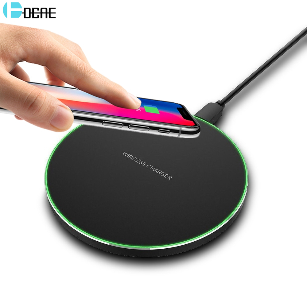 DCAE 5V/9V Qi Wireless Charger For Samsung Galaxy S8 S9 Note 8 For iPhone X 8 8 Plus Xiaomi Mix 2s mi 8 Fast Charging Dock Pad