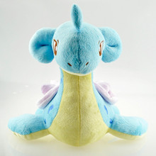 1pcs 17cm Poke mon Plush Toy Lapras Plush Game Character Soft Stuffed Animals Toys Doll Gift for Children Free Shipping