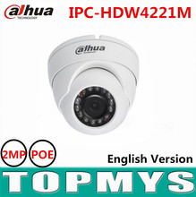 Dahua 2MP HD WDR Network IR Eyeball Camera IPC-HDW4221M POE IR 30m CCTV security ip Camera support smart Detection