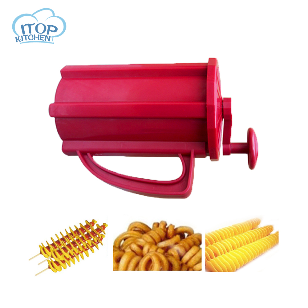 ITOP Hot Dog Potato Slicer Twisted Carrot Slicer Tornado Potato Cutter Spiral French Fry ...