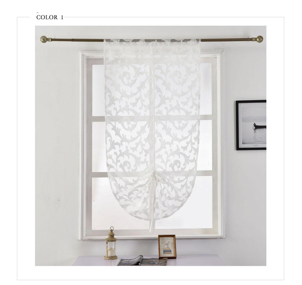 Panel tüll vorhang fenster vorhang hause weiße Kurze moderne sheer ...