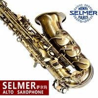 The French Selmer 54 Drop E Alto Sax Instruments Antique Copper Complete Accessories Free Shipping