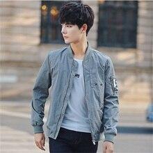 2017 new Autumn New Bomber Jacket Fashion Slim Fit Men Casual Jackets Letter Print Long Sleeve Windbreaker Coat Men's Clothing