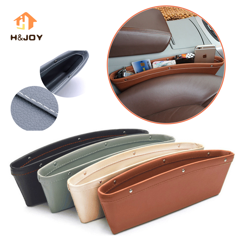Car Organizer Box Caddy Catcher PU Leather Seat Gap Storage Bag Car Gap Slit Pocket For Phones/Cards Seat Side Gap Pocket