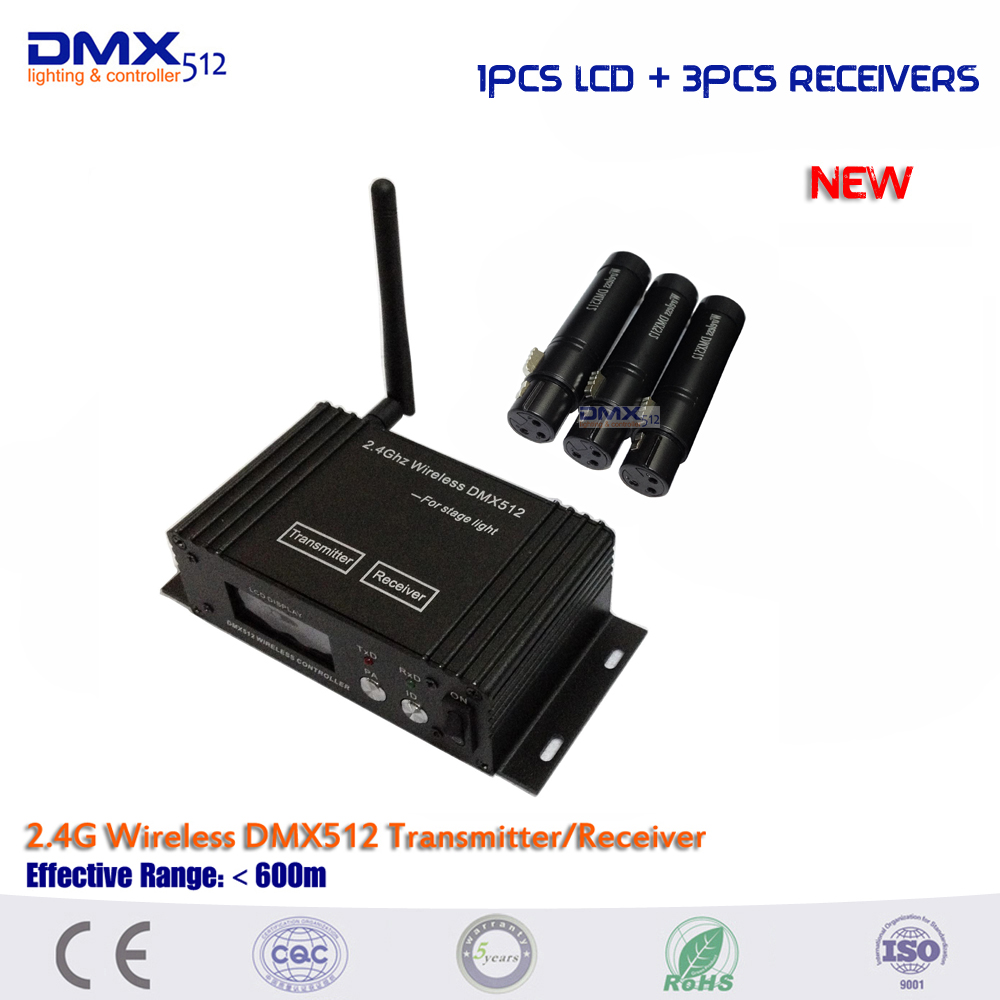 DHL Free shipping transmitter and receiver 2 4ghz wireless dmx512 stage light dmx controller