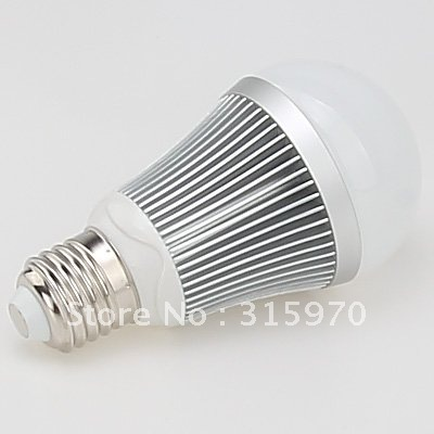Led Dimmable Lamp High Power 5W 220VAC Gloal Type Light White And Warm