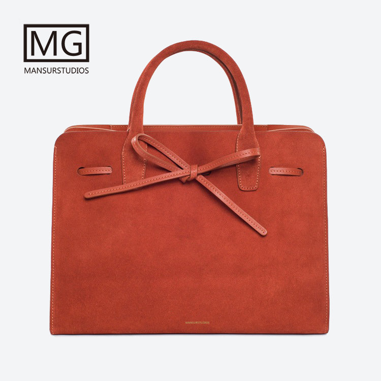 Mansurstudios Women Faux Suede Tote Bag, mansur lady leather suede Sun Bags, garviel suede handbag,free shipping цена 2017
