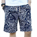 Tengo Brand Summer Men's Board Shorts Beach Shorts for Men Loose Cotton Linen Casual Short Pants