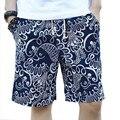 Tengo Marca Verano hombres Pantalones Cortos de Playa para Hombres Ropa Suelta de Algodón Ocasional de Los Pantalones Cortos