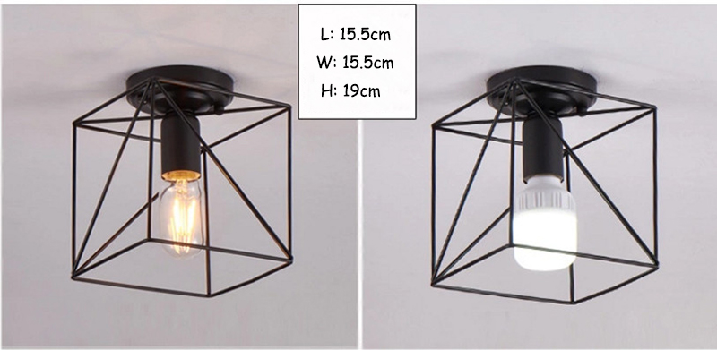HTB10XN4bvfsK1RjSszgq6yXzpXah Modern nordic black wrought iron E27 led ceiling lamps for kitchen living room bedroom study balcony porch restaurant cafe hotel