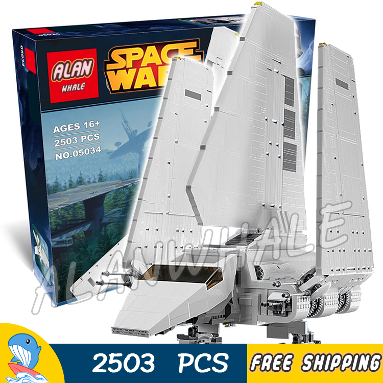 2503pcs Space Wars Universe New Imperial Shuttle 05034 Model Building Blocks Kit Gifts Boys Toys Compatible With lego toys in space
