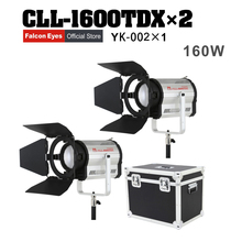 FalconEyes LED Studio Video Fotografia Lamp 160W Bi-Color DMX System Continuous Lighting For Movie/Stage With Box Free Shipping