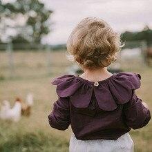 Новорожденного ребенка девушка одежда с длинным рукавом дети девушка цветок футболка вино красный цветок ребенка день рождения подарок осень зима наряды