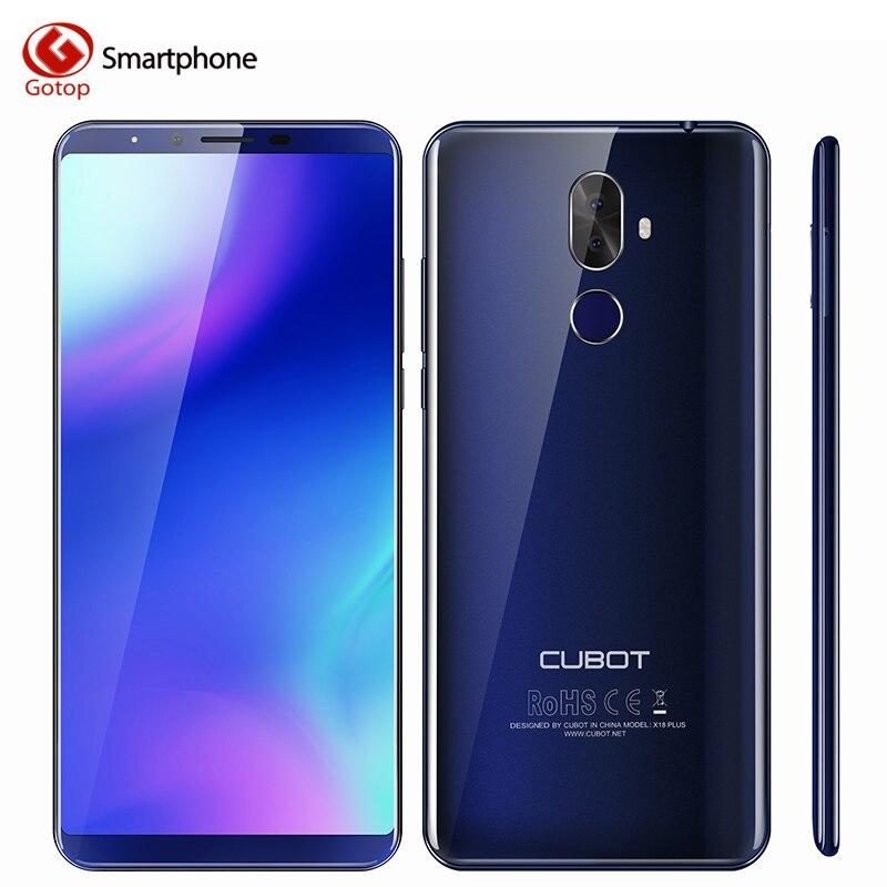Cubot X18 Plus. Android 8.0 18:9 FHD + 4 gb 64 gb 5.99 pollice MT6750T Octa-Core Smartphone 16MP + 2MP Posteriore Telecamere 4000 mah 4g Celular