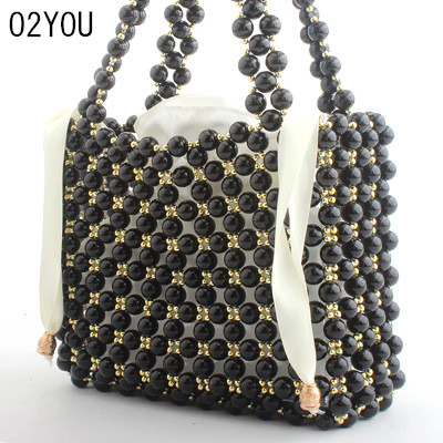 women handbags Beaded bag women bag clutch ladies Totes evening bags messenger bags clutch pouch Brand New White Black Crystal