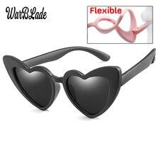 WBL niños Gafas de sol polarizadas niños corazón Gafas de sol de niñas y  niños de silicona UV400 niño espejo bebé Gafas TR90 9a2ad95660