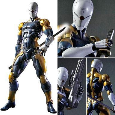 Play Arts Kai MGS Metal Gear Solid Cyborg Ninja Gray Fox Action Figure Model NO RETAIL BOX (Chinese Version) metal gear solid v the phantom pain play arts flaming man action figure super hero