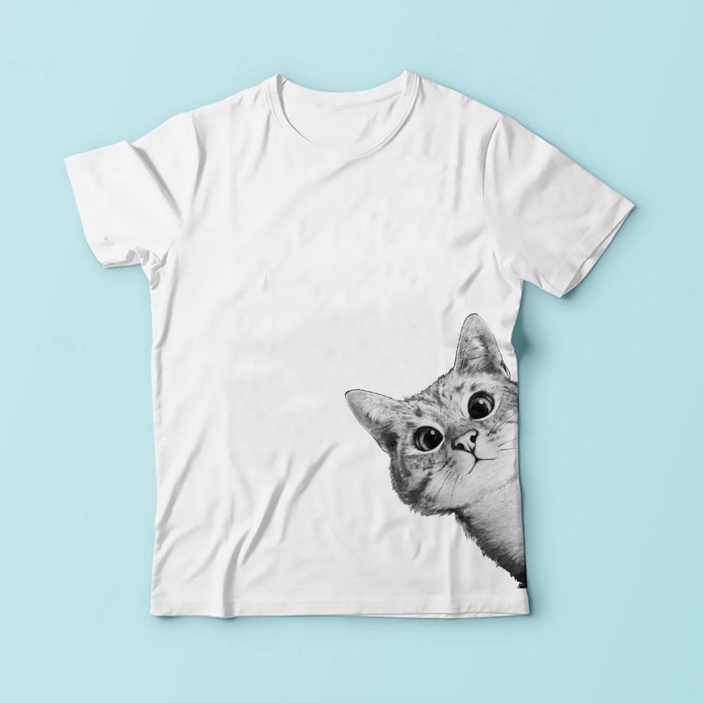 귀여운 비열한 고양이 3D 재미 tshirt 남성 여름 새로운 흰색 캐주얼 편안한 t 셔츠 옴므 짧은 소매 플러스 사이즈 티셔츠