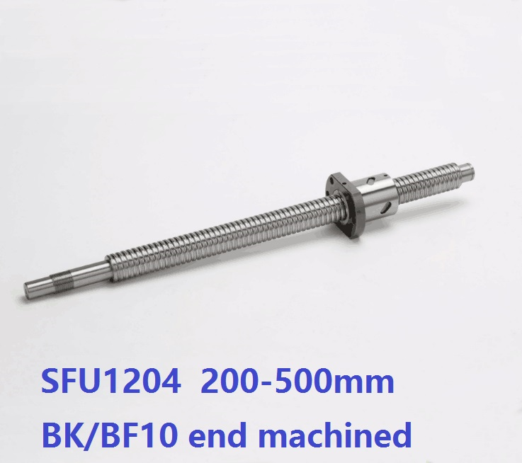 1pcs RM1204 200mm/300mm/400mm/500mm long ball screw guide way with end machined+ 1pcs SFU1204 single ball nut for cnc router tbi ball screw set sfu1204 400mm with end machined