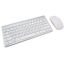 Russian Keyboard Ultra-Thin Wireless Keyboard Mouse Combo 2.4G Wireless Mouse for Apple Keyboard Style Mac Win XP/7/8/10 Tv Box