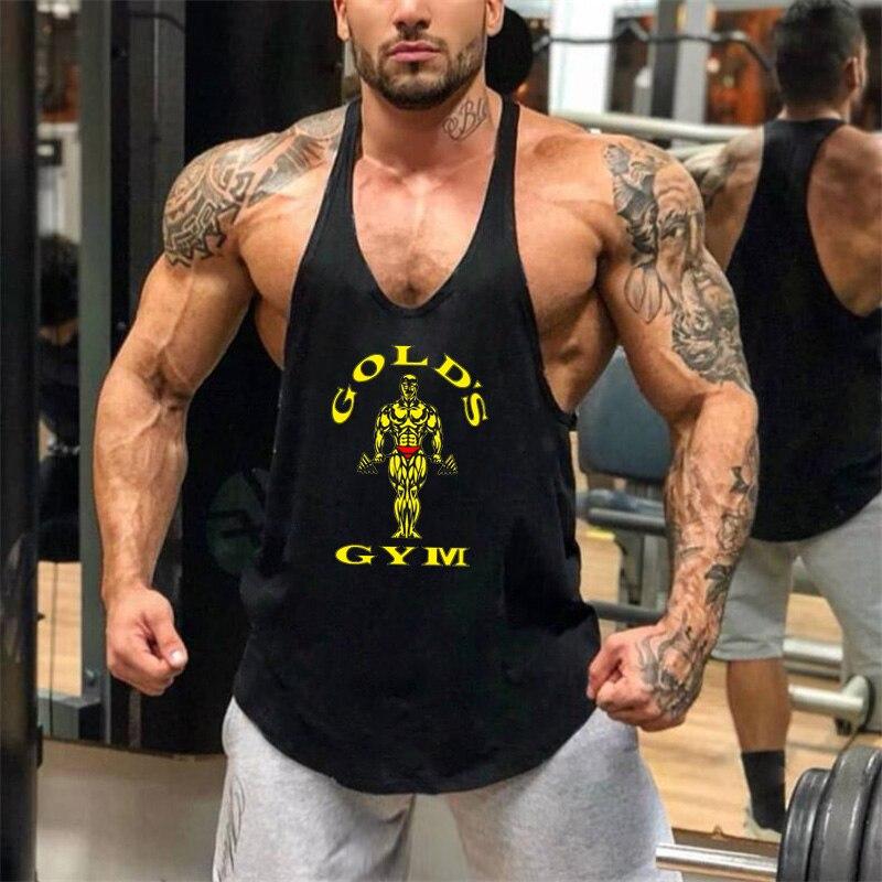 New Bodybuilding   Tank     Top   Men Gyms Stringer Fitness Gyms Shirt Brand Clothing Muscle Workout Cotton Regatas Masculino