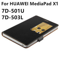 Case Cowhide For Huawei MediaPad X1 Protective Smart Cover Genuine Leather Tablet For Honor X1 7D