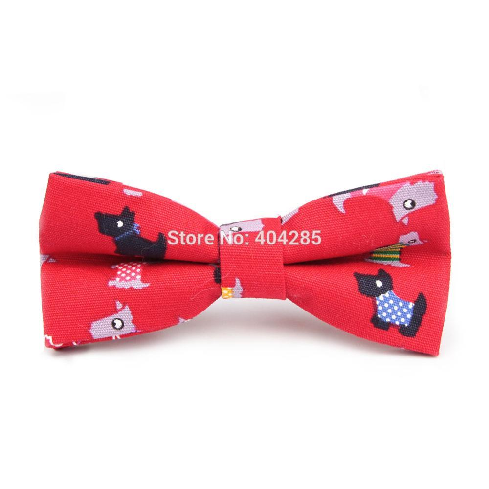HOOYI 2019 Catton Dog Cotton Men's Print Bow Ties For Men