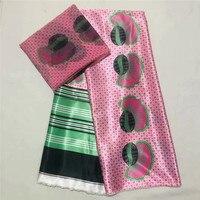High quality digital printed wax design african satin fabric ribbon silk pattern satin silk fabric for party dres XM072505