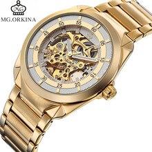 Orkina reloj grabado relojes para hombre ver Througth Auto reloj mecánico  caja de regalo 995305ca8596