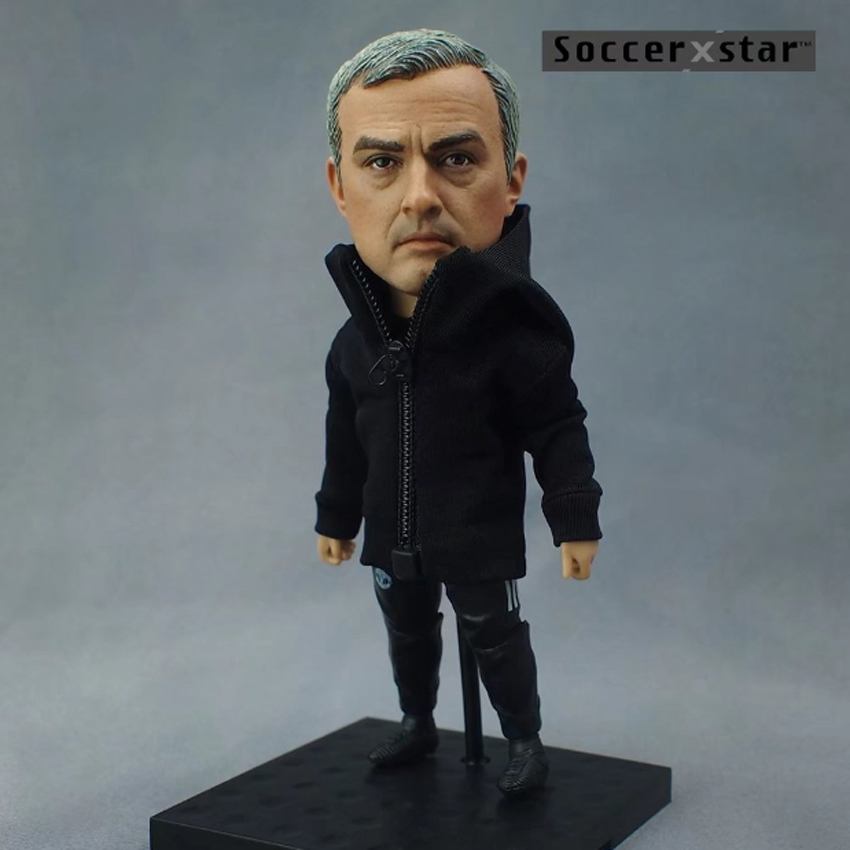 Soccerxstar Figurine Football Player Movable Dolls MOURINHO(MU Coach) 12CM/5in Figure BOX include Accessories soccerwe dolls figurine football stars 17 18 7 c ronaldo movable joints resin model toy action figure dolls collectible gift