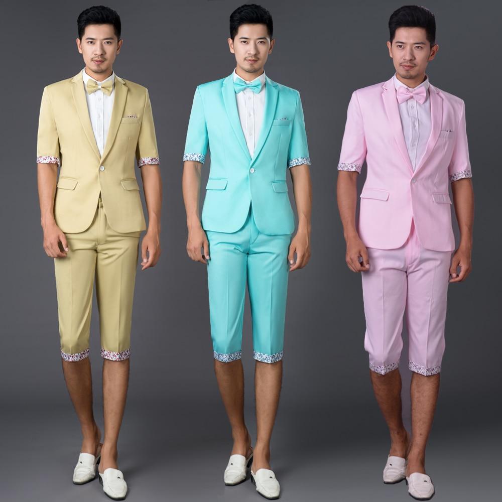 2017 photography suits men cultivating leisure suit Korean short ...