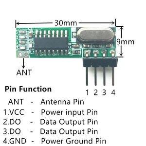 Image 2 - 433เมกะเฮิร์ตซ์Superheterodyneรับสัญญาณความถี่คลื่นวิทยุและโมดูลส่งสัญญาณASKชุดที่มีเสาอากาศสำหรับA Rduino uno Diyชุด433เมกะเฮิร์ตซ์ระยะไกลควบคุม