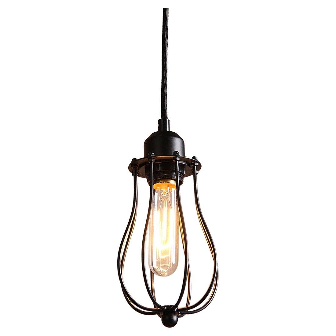 Vintage Retro Industrial Edison Metal Shade Ceiling Pendant Lamp Fixture Black