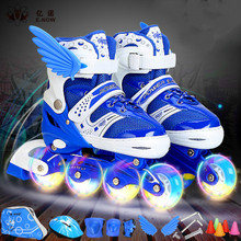Skate shoes boy skates skates shoes full set of three-color PU flash wheel girl