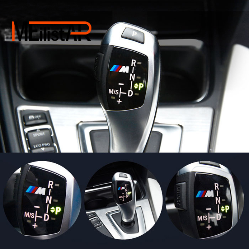 Car-Styling Car Gear Shift Knob Panel Cover M Emblem Stickers for BMW X1 X3 X5 X6 F30 F35 F10 F18 F11 F07 GT F15 F16 F25 F18 F20 молдинги west bank bmw5 f18 f30 f35 x1x5x6