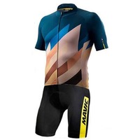 MAVIC Pro Ropa Ciclismo Maillot Cycling Jersey Sets Men Triathlon Skinsuit Bike Clothing Shorts sleeve Suit