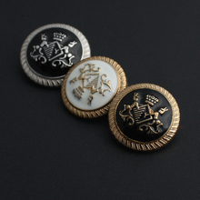 High-grade metal coat sweater button golden shield emblem crown of England blazer 100 pcs/lot