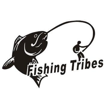 14*10CM Outdoor Sports Car Sticker Fishing Stickers Competing Tribal Fishing FISHING TRIBES Stickers CT-389 image