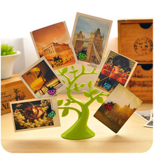 Creative Lucky Tree Desktop Cute Memo Clips Photo Note Holders Multifunctional Decoration Magnetic Plastic Table Card Holders