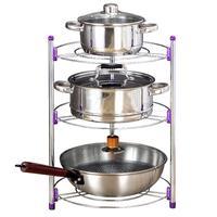 2/3 Layer Kitchen Storage Rack Stainless Steel Pan Pot Organizer Rack Multi function Shelf Home Kitchen Supplies