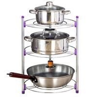 2/3 Layer Kitchen Storage Rack Stainless Steel Pan Pot Organizer Rack Multi function Shelf Home Kitchen Supplies