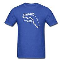 2017 moda caliente venta Florida-America Wang hombres Camiseta 100% algodón o-cuello camiseta casual Camiseta corta