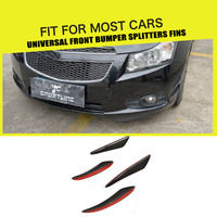 Universal Car Styling Carbon Fiber Auto Front Bumper Trim Decoration Fit Any Car
